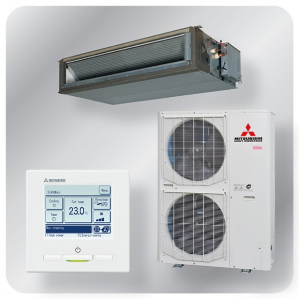High static Ducted system 25kw R410A - Standard Inverter - 3ph - 70m pipe run