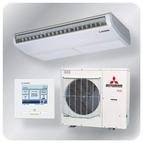 Ceiling Suspended system 12.5kw R410A - Hyper inverter - 3ph - 100m pipe run
