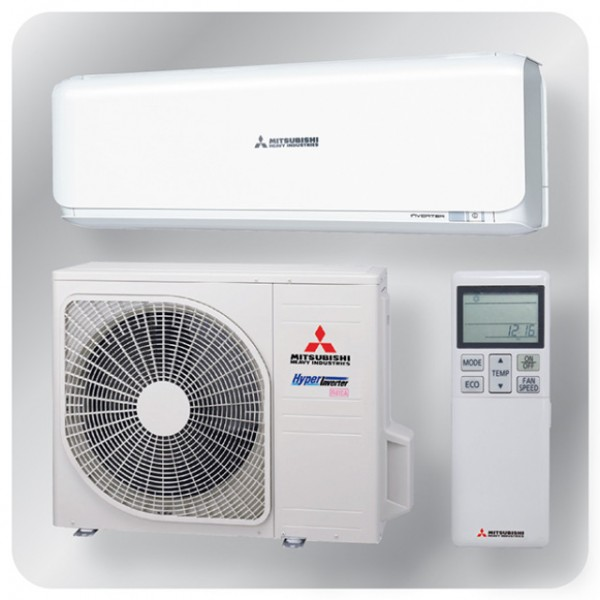 Wall mounted system 10kw R410A - Diamond Inverter - 3ph - 50m pipe run