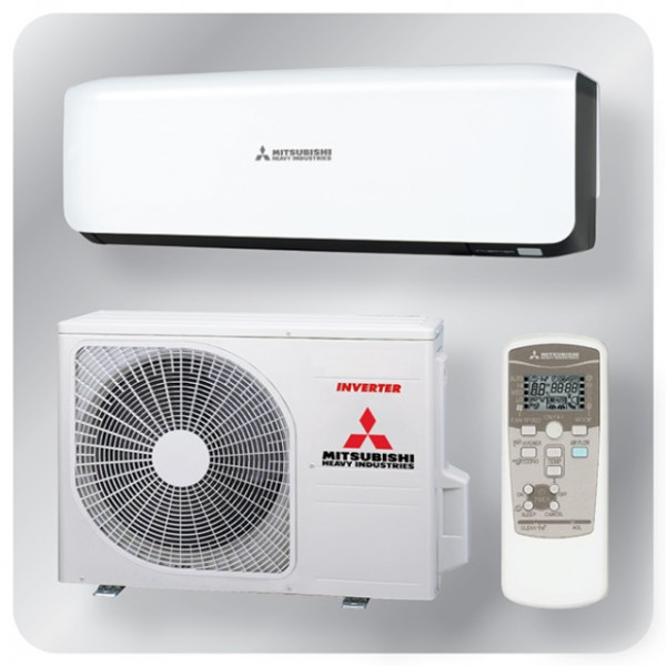 Wall Mounted system 5.0kw R32 - Premium Inverter - Black + White