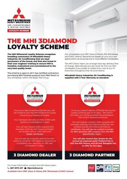 MHI 3Diamond Loyalty Scheme (Ireland)