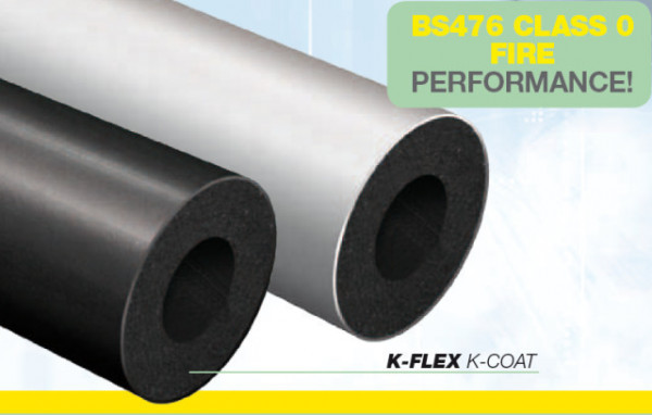 "K-Flex 'K-Coat' Insulation White 1m Lengths 3/4"" Wall"