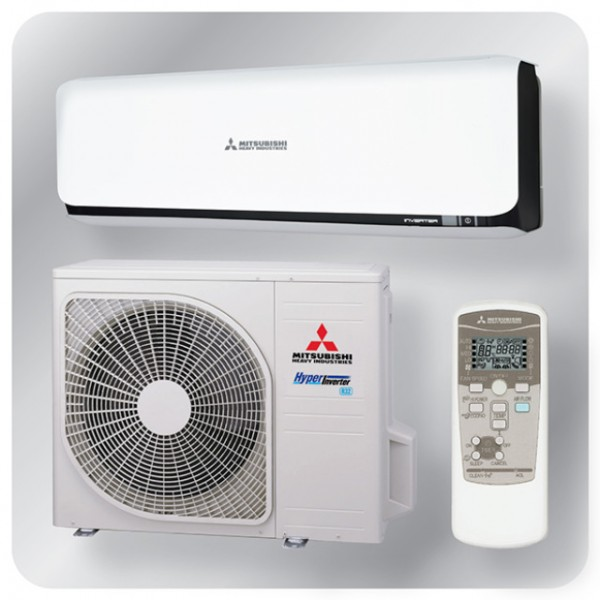 Wall mounted system 3.5kw R32 - Diamond Inverter - black + white